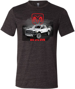 Dodge T-shirt White Ram Tri Blend Tee