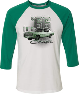 Dodge T-shirt Green 1966 Charger Raglan