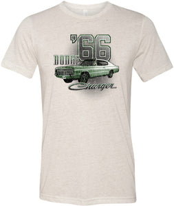 Dodge T-shirt Green 1966 Charger Tri Blend Tee