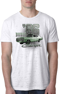 Dodge T-shirt Green 1966 Charger Burnout Tee