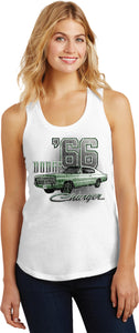 Ladies Dodge Tank Top Green 1966 Charger Racerback