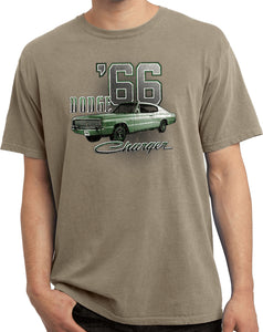 Dodge T-shirt Green 1966 Charger Pigment Dyed Tee