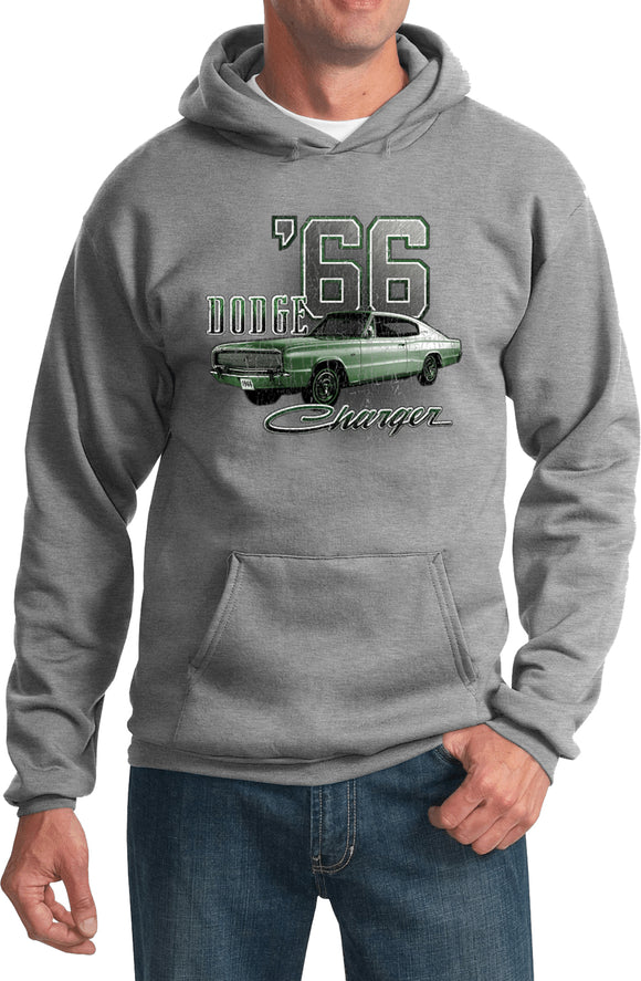 Dodge Hoodie Green 1966 Charger Hooded Sweatshirt
