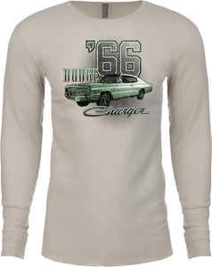 Dodge T-shirt Green 1966 Charger Long Sleeve Thermal