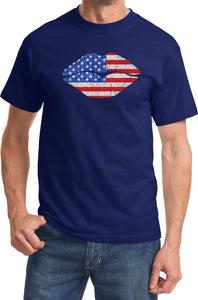 USA T-shirt Patriotic Lips Tee