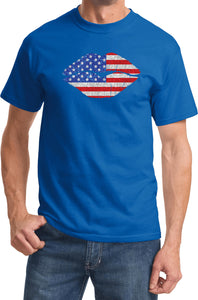Buy Cool Shirts USA T-shirt Patriotic Lips Tee