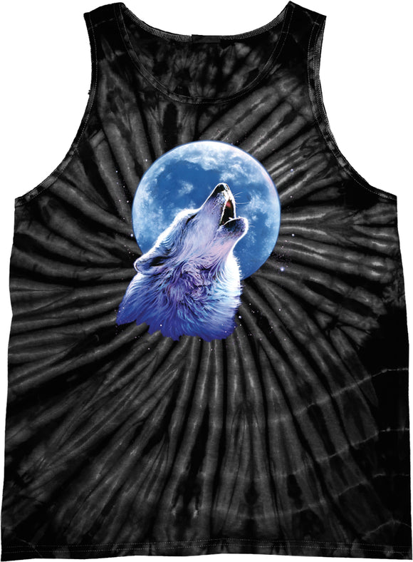 Buy Cool Shirts Wolf and Moon Tank Top Call of the Wild Tie Dye Tanktop