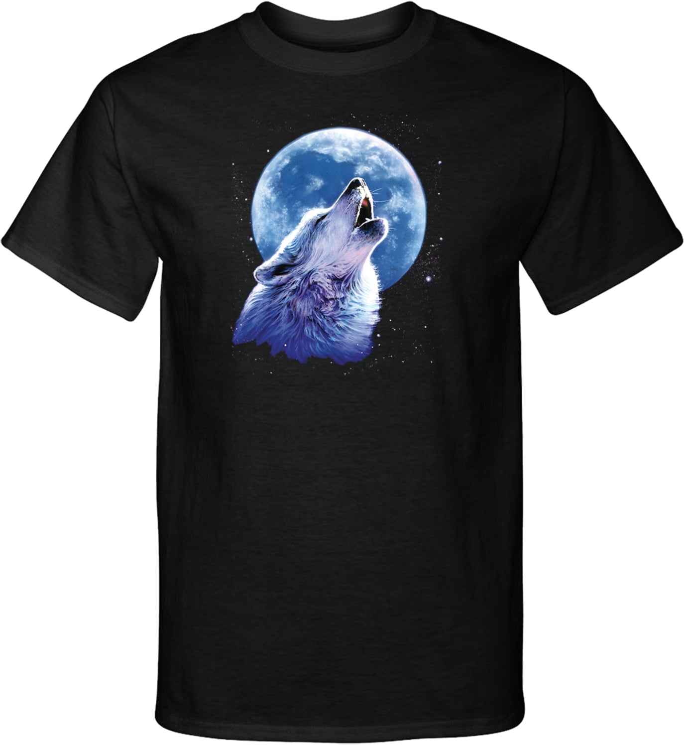 Wolf and Moon T-shirt Call of the Wild Tall Tee