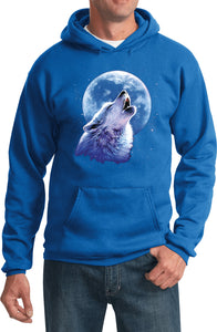 Wolf and Moon Hoodie Call of the Wild Hooded Sweatshirt