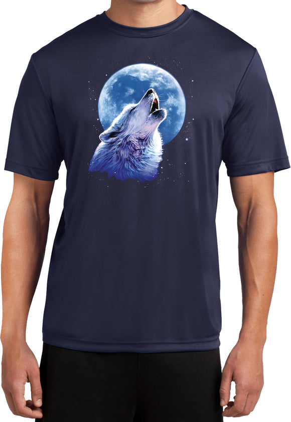 Wolf and Moon T-shirt Call of the Wild Moisture Wicking Tee