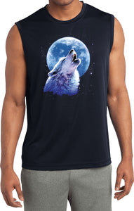 Buy Cool Shirts Wolf and Moon T-shirt Call of the Wild Sleeveless Competitor Tee
