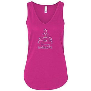 "Womens ""Namaste Lotus"" Flowy Yoga Tank Top - Yoga Clothing for You - 1"