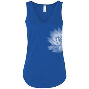 Womens Lotus Flower Flowy Tank Top - Yoga Clothing for You - 7