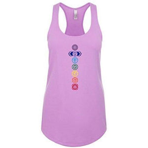 Womens 7 Chakras Racer-back Tank Top - Yoga Clothing for You - 9