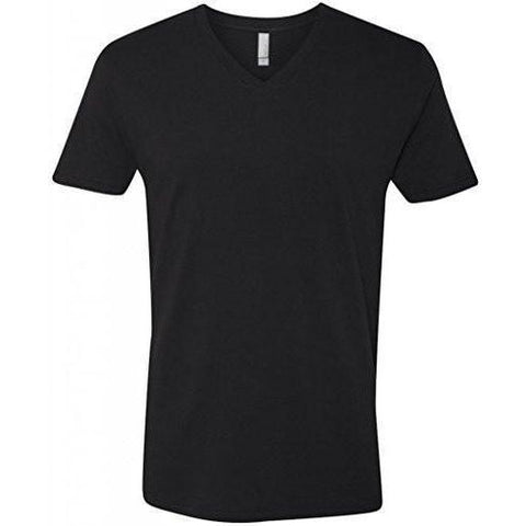 Yoga Clothing for You Mens Fitted Cotton V-neck Tee Shirt