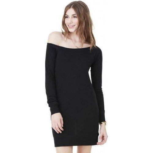 WOmens Lightweight Wide-Neck Sweater Dress - Yoga Clothing for You - 1