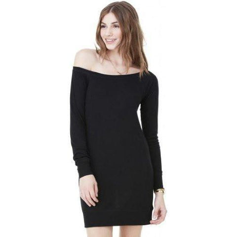 Yoga Clothing for You WOmens Lightweight Wide-Neck Sweater Dress