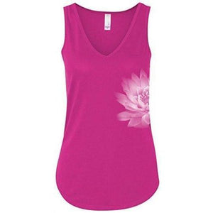 Womens Lotus Flower Flowy Tank Top - Yoga Clothing for You - 1