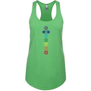 Womens 7 Chakras Racer-back Tank Top - Yoga Clothing for You - 6