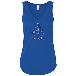 "Womens ""Namaste Lotus"" Flowy Yoga Tank Top - Yoga Clothing for You - 8"
