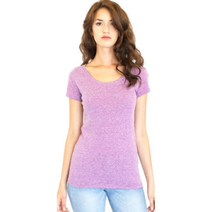 Ladies Recycled Triblend Yoga Tee Shirt - Yoga Clothing for You - 6