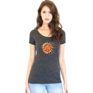 Ladies Sleeping Sun Recycled Triblend Yoga Tee - Yoga Clothing for You - 5