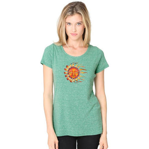 Ladies Sleeping Sun Recycled Triblend Yoga Tee - Yoga Clothing for You - 7