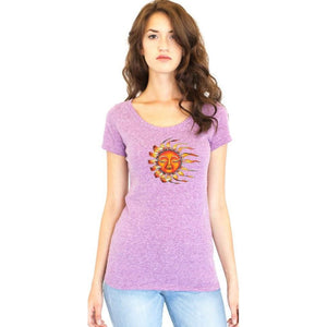 Ladies Sleeping Sun Recycled Triblend Yoga Tee - Yoga Clothing for You - 2