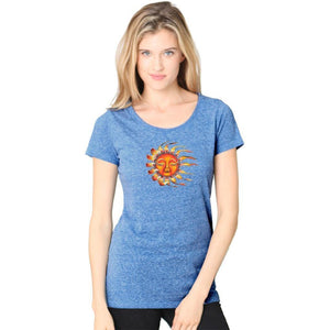 Ladies Sleeping Sun Recycled Triblend Yoga Tee - Yoga Clothing for You - 8