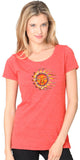 Ladies Sleeping Sun Recycled Triblend Yoga Tee
