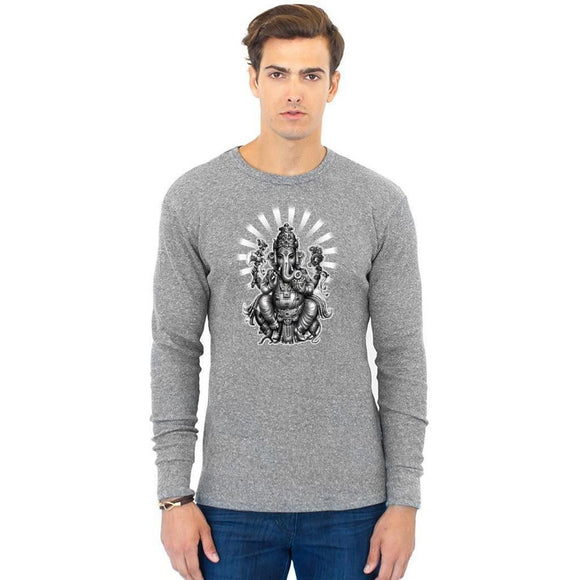Men's Ganesh Eco Thermal Tee - Yoga Clothing for You