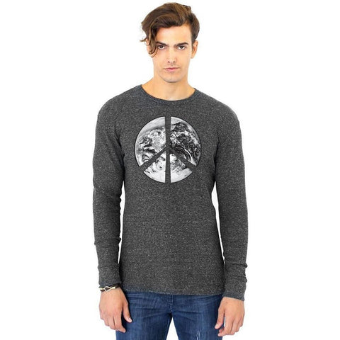 Yoga Clothing for You Men's Peace Earth Eco Thermal Tee