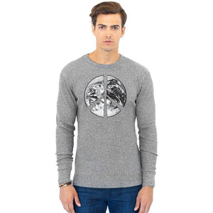 Men's Peace Earth Eco Thermal Tee - Yoga Clothing for You