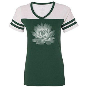Womens Lotus Flower Tee Shirt - Yoga Clothing for You - 3