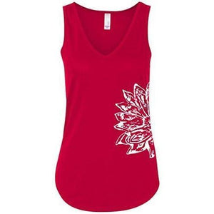 Womens Sketch Lotus Flowy Tank - Side Print - Yoga Clothing for You - 6