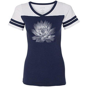 Womens Lotus Flower Tee Shirt - Yoga Clothing for You - 4
