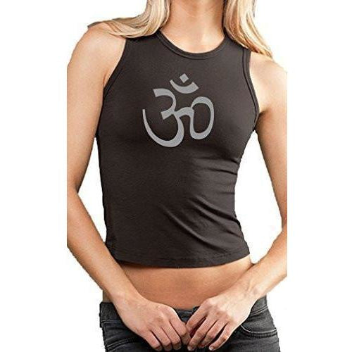 Yoga Clothing for You Womens OM Symbol Cropped Tank Top