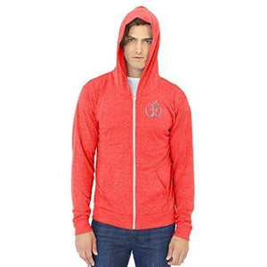 Men's Eco Hindu Patch Full Zip Hoodie - Yoga Clothing for You - 12