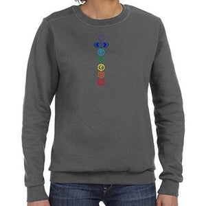 Womens Colored Chakras Lightweight Sweatshirt - Yoga Clothing for You - 3