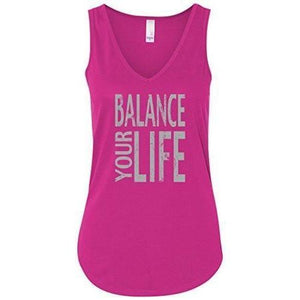 "Womens ""Balance Your Life"" Flowy Yoga Tank Top - Yoga Clothing for You - 2"