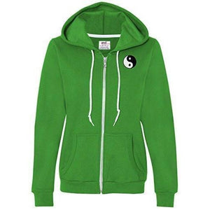Womens Yin Yang Patch Full Zip Hoodie - Pocket Print - Yoga Clothing for You - 4