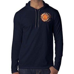 Mens Sleeping Sun Hoodie Tee Shirt - Pocket Print - Yoga Clothing for You - 5
