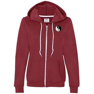 Womens Yin Yang Patch Full Zip Hoodie - Pocket Print - Yoga Clothing for You - 6