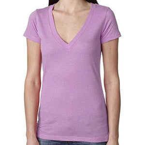 Womens Lightweight Deep V-neck Tee Shirt - Yoga Clothing for You - 10