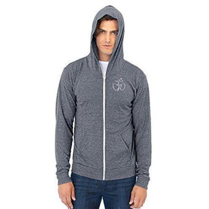 Men's Eco Hindu Patch Full Zip Hoodie - Yoga Clothing for You - 13