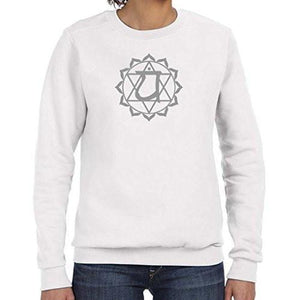 Ladies Anahata Chakra Lightweight Sweatshirt - Yoga Clothing for You