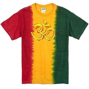Mens 3D OM Rasta Tie Dye T-Shirt - Yoga Clothing for You