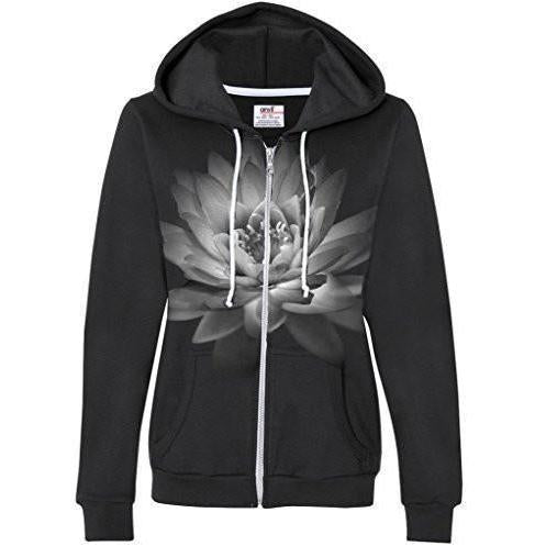 Womens Lotus Flower Full Zip Hoodie - Yoga Clothing for You - 1