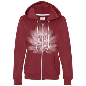 Womens Lotus Flower Full Zip Hoodie - Yoga Clothing for You - 6
