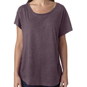 Womens TriBlend Dolman Tee Shirt - Yoga Clothing for You - 12